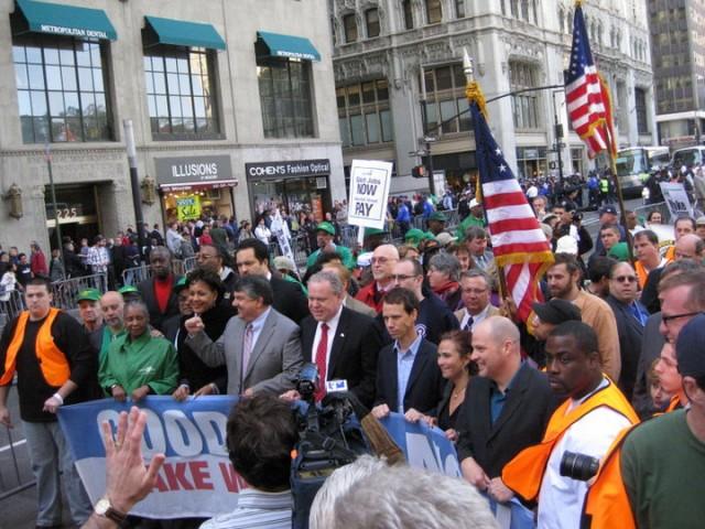 Walls Street rally